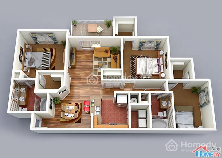 mẫu căn hộ 3D 5