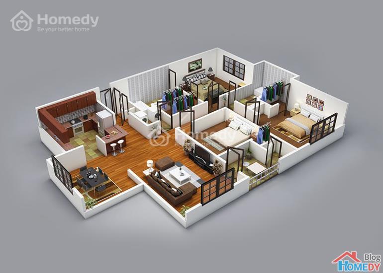 mẫu căn hộ 3D 8