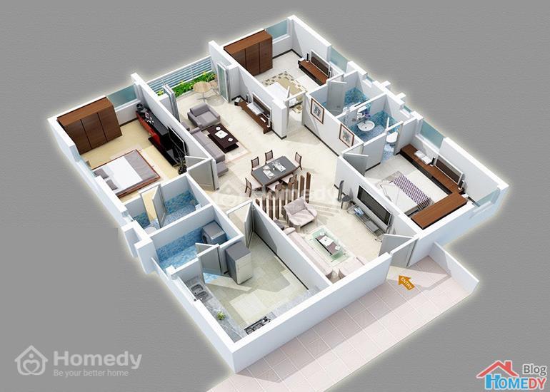 mẫu căn hộ 3D 9