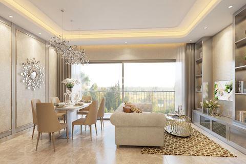 Bán căn hộ ghép Masteri Thảo Điền tháp T2 tầng cao 125 m2 3 phòng ngủ, không nội thất
