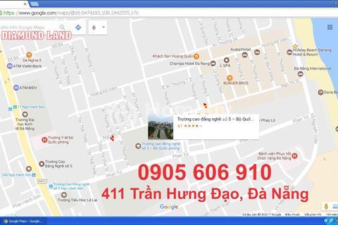 Bán 118 m2 đất đường Ngô Thì Sĩ, Đà Nẵng khu phố Tây đâm thẳng ra biển
