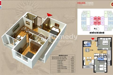 Bán gấp căn hộ cao cấp 68 m2 tầng 12 chung cư Helios Tower 75 Tam Trinh giá 24,5 triệu/ m2.