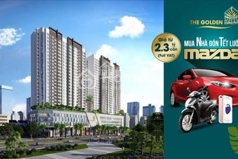 Sở hữu cơ hội trúng ôtô Mazda3 cùng chung cư The Golden Palm Lê Văn Lương,chiết khấu 160 triệu/ căn