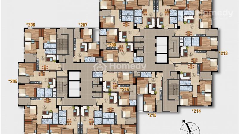 Cần bán gấp căn hộ 3206 - tầng 3, mã căn 6 chung cư Ruby City Lon Biên với giá bán 1,581 tỷ - 3