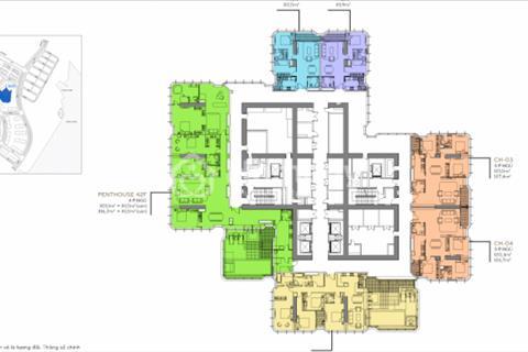 Căn hộ Sky Villa tòa Landmark 81 DT 396m2 4PN thiết kế rộng rãi với 80m2 sân vườn