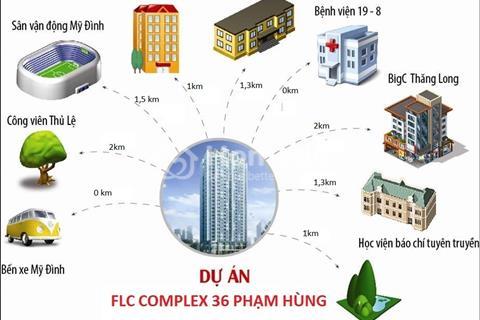 Chính chủ cho thuê căn hộ chung cư cao cấp FLC Phạm Hùng full nội thất. Miễn trung gian