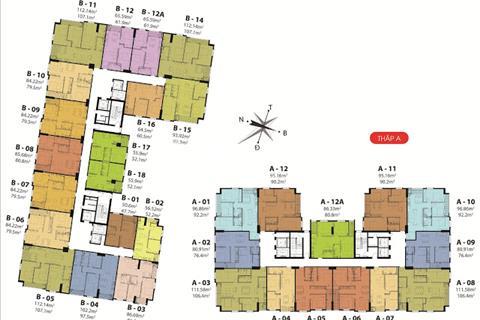 Bán căn hộ Hateco Hoàng Mai , đường vành đai 3 , với thiết kế căn hộ đẹp , ở ngay