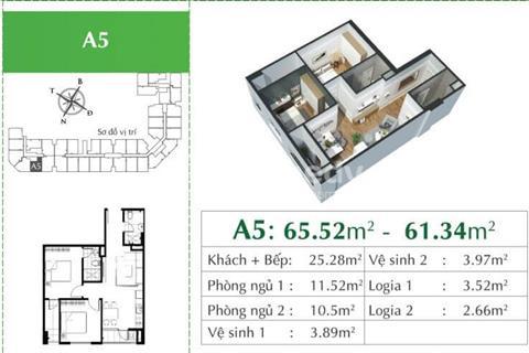 Eco City Việt Hưng ra hàng đợt cuối các căn ngoại giao diện tích nhỏ 61,34 m2 chỉ từ 1,7 tỷ/ căn