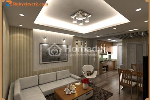 Ruby City Long Biên bàn giao ở ngay căn 3 ngủ diện tích 80 m2, giá 1,6 tỷ