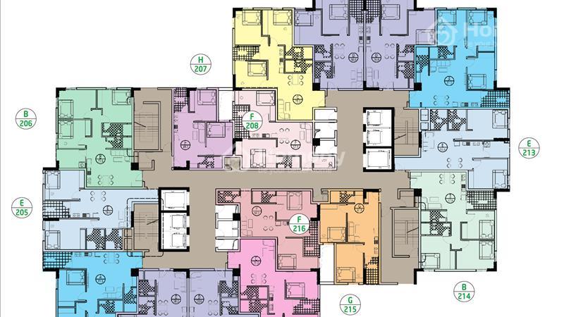 Ruby City Long Biên bàn giao ở ngay căn 3 ngủ diện tích 80 m2, giá 1,6 tỷ - 4