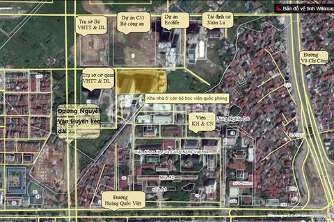 Bán sàn thương mại quần thể Ecolife giáp Hoàng Quốc Việt và Võ Chí Công. Giá từ 18,5 triệu/ m2