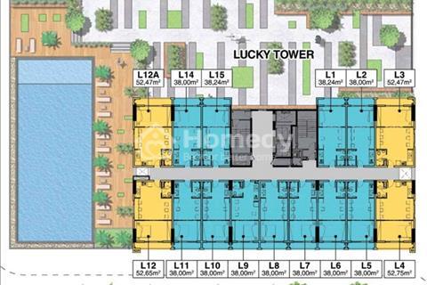Offic-tell Lucky Tower mặt tiền đường Nguyễn Xí (Quận Bình Thạnh) cách Quận 1 khoảng 10 phút.