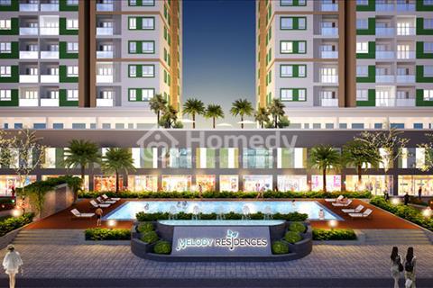 Mặt bằng kinh doanh tại tầng trệt căn hộ Melody Residences, mặt tiền 16 Âu Cơ, 3 tỷ/căn 117 m2