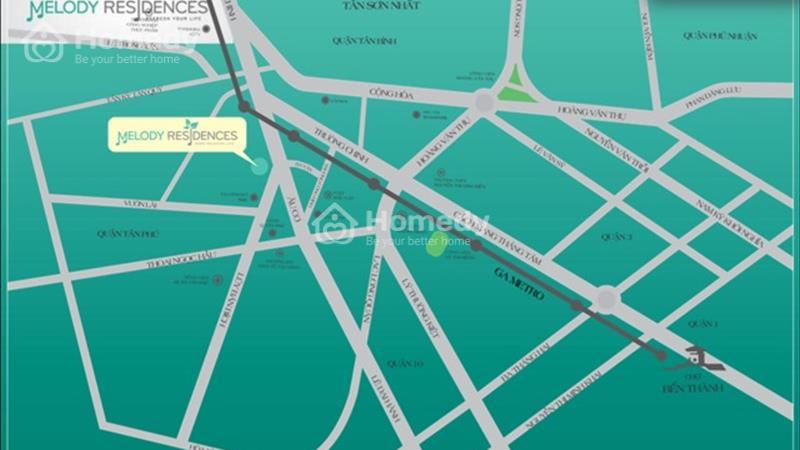Mặt bằng kinh doanh tại tầng trệt căn hộ Melody Residences, mặt tiền 16 Âu Cơ, 3 tỷ/căn 117 m2 - 2
