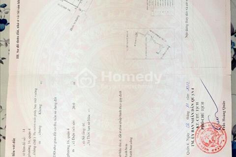 Bán nhà riêng đường Đoàn Văn Bơ, Q4 giá rẻ  1,7 tỷ