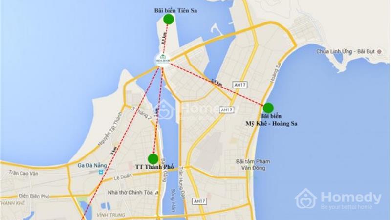Suất ngoại giao duy nhất tòa A View trọn vẹn biển Đà Nẵng tại Condotel Hòa Bình Green - 2