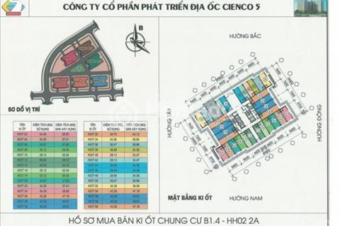Phân phối kiot tầng 1 chung cư Thanh Hà Mường Thanh Cienco 5