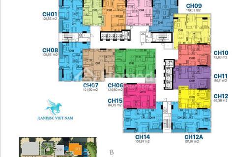 Căn góc chung cư cao cấp 99 m2, 3 phòng ngủ, 2 vệ sinh tại Ciputra, Tây Hồ
