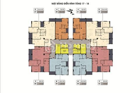 Bán căn hộ 174m2 tầng 17,18 dự án Northern Diamond chỉ có số lượng 4 căn.