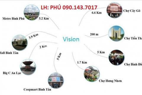 Căn hộ cao cấp Vision-1 Bình Tân giá tốt nhất khu vực phía Tây Thành Phố
