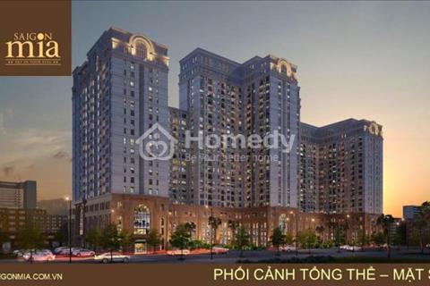 Căn hộ Saigon Mia kiến trúc Pháp ngay khu Trung Sơn, liền kề Quận 7, chỉ 1,9 tỷ/căn