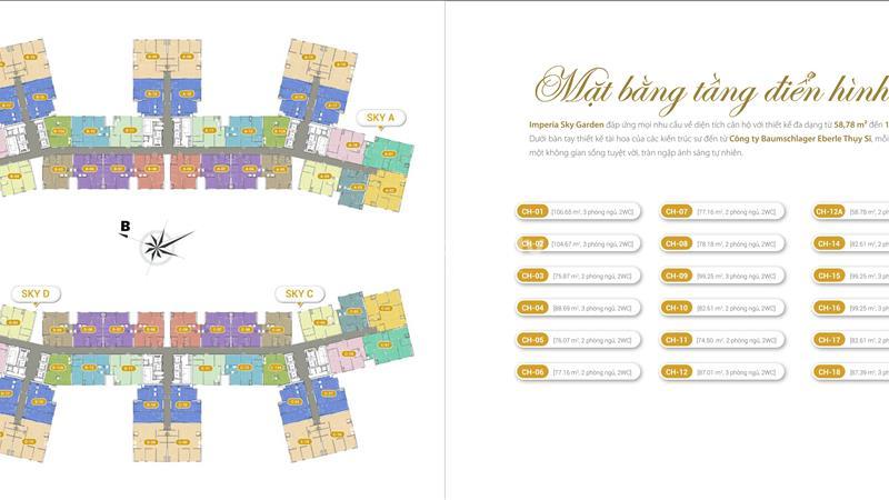 Bán suất ngoại giao căn hộ 2 phòng ngủ - 423 Minh khai - Imperia Sky Garden - 1
