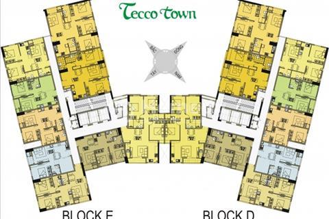Rẻ hơn khu vực, Tecco Town, 670tr/căn 2PN, hỗ trợ vay vốn 70%, chiết khấu 7%,