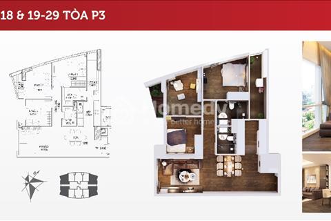 Bán căn góc 3 PN diện tích 104 m2 cực đẹp, giá bán 2,7 tỷ. Dự án 360 Giải Phóng - Imperial Plaza