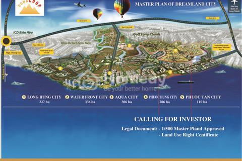 Cơ hội sở hữu đất nền ven sông tại khu đô thị Long Hưng, sổ đỏ từng nền