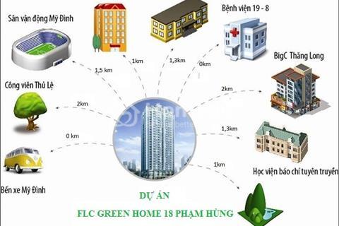 Cần bán căn hộ chính chủ giá hấp dẫn tại FLC Green Home 18 Phạm Hùng