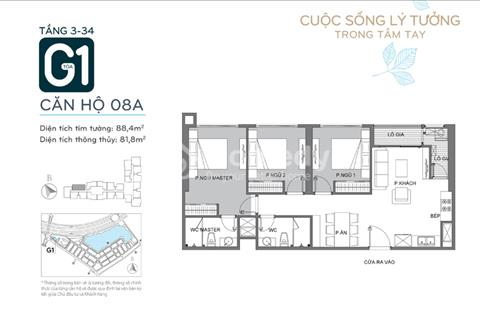 Cắt lỗ căn 3 phòng ngủ đẹp nhất dự án Vinhomes Green Bay Mễ Trì