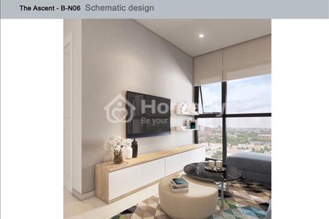 Cho thuê căn hộ the Ascent 3PN 99m2 view sông full nội thất