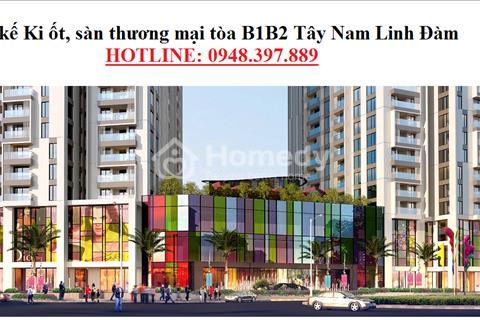 Bán mặt bằng trung tâm thương mại diện tích từ 200 m2 đến 1000 m2.