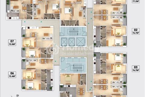South Building Pháp Vân căn 72m giá 1 tỷ 447 vào trực tiếp hợp đồng mua bán