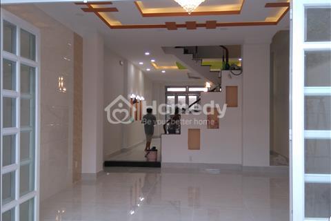 Cho thuê nhà mặt tiền mới xây nguyên căn 5x25 3 lầu 1 trệt 22tr