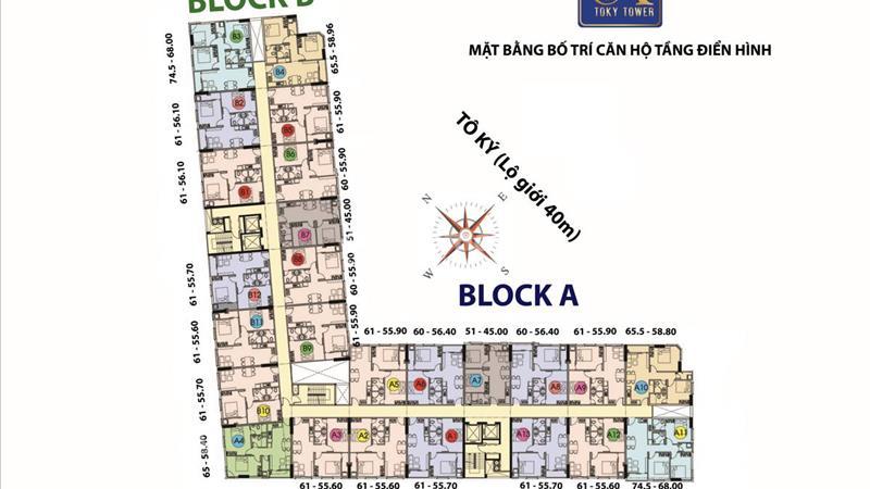 Căn hộ Tô Ký Tower MT đường Tô Ký Q12, giá 1.1 tỷ/căn hộ, dt 61m2, 2PN, 2WC - 3