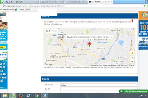 Cho thuê đất đường Phú Minh, phường Phúc Diễn, Quận Bắc Từ Liêm, Hà Nội