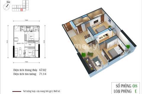 BÁn căn hộ chung cư Eco Green City,67,02 m2 căn 08 Ruby4, giá rẻ 1,8 tỷ