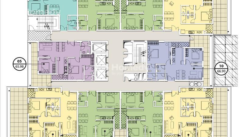 Mặt bằng tòa A tầng 3