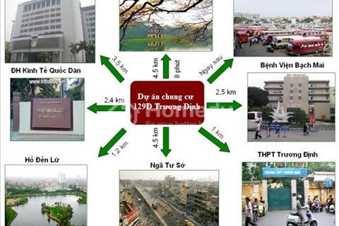 Siêu ưu đãi tại quận Hai Bà Trưng - Chung cư Trương Định sắp bàn giao nhận nhà, đã xây 17/18 tầng