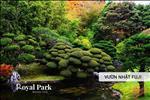"""Vườn Nhật Fuji với ý nghĩa """"tình yêu bất diệt, vẻ đẹp vĩnh cửu"""" là một trong những công trình điểm nhấn trong quần thể Royal Park Huế."""