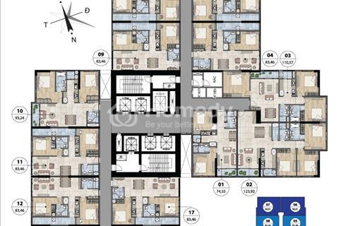 Cần bán gấp căn hộ Goldmark City căn 09 diện tích 83m2 giá 26,5 triệu/m2
