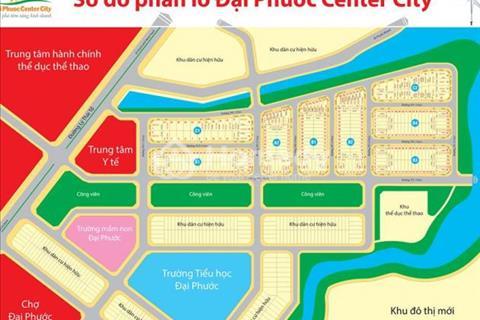Đại Phước Center City , Nhơn Trạch. DT: 90m 2 , giá 690 triệu. Đầu tư sinh lợi cao