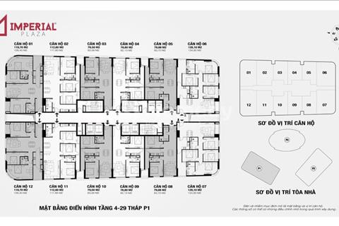 Chuyên cung cấp suất ngoại giao dự án Imperial Plaza 360 Giải Phóng