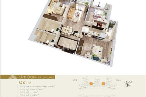Bán suất ngoại giao căn 82.61 m2 và 99.25 m2, ban công Đông Nam, tầng 18 và 20, dự án 423 Minh Khai
