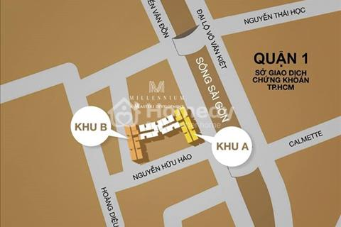 Mở bán shophouse, officetel, 10 tầng cuối cùng dự án millennium, thanh toán 30% nhận nhà