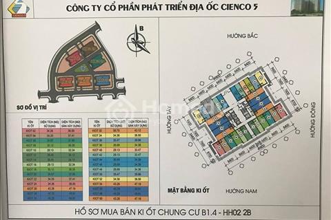 Bán Kiot view hồ chung cư Thanh Hà Cienco 5, giá chỉ 22 triệu/m2