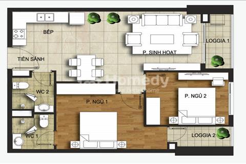 Bên trong căn hộ 70 m2 - 2 phòng ngủ tại chung cư T&T 440 Vĩnh Hưng