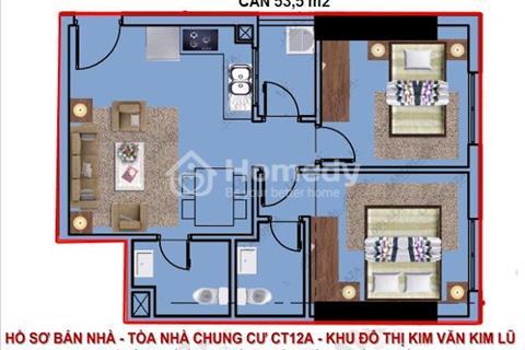 Cần bán chung cư giá cực rẻ khu Kim Văn-Kim Lũ tòa nhà CT12A mới 100% -căn hộ tầng 14