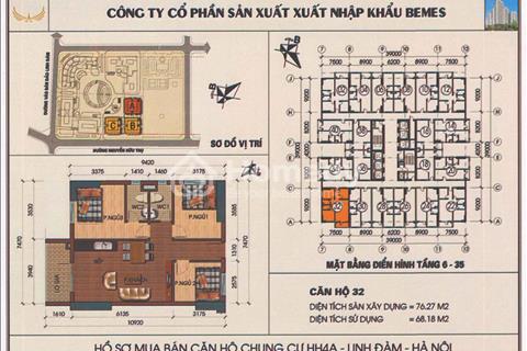 Cần bán căn hộ 1132, chung cư HH4A, có 3 phòng ngủ, view đẹp chính chủ
